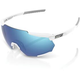 100% Racetrap Gafas, matte white/hiper multilayer mirror